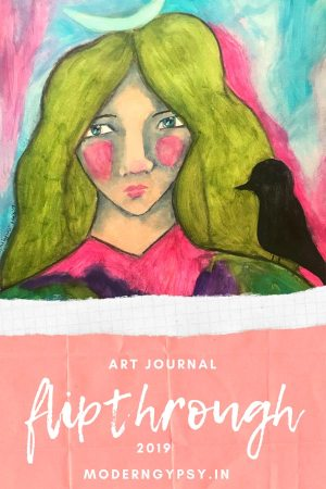 Here's an art journal flip through of my art journal from 2019. I hope this flip through gives you some ideas and inspiration, and that it encourages you to start a creative practice too!