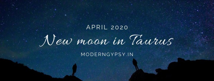 Tarot spread for the April 2020 new moon in Taurus