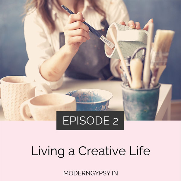 Art with soul podcast episode 2 - living a creative life. woman painting a cup
