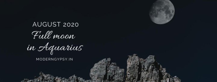 Tarot spread for the August 2020 full moon in Aquarius