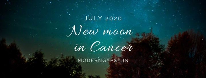 Tarot spread for the July 2020 new moon in Cancer