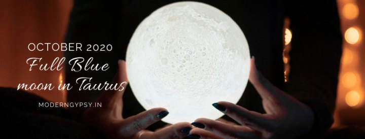 Tarot spread for the October 2020 full blue moon in Taurus