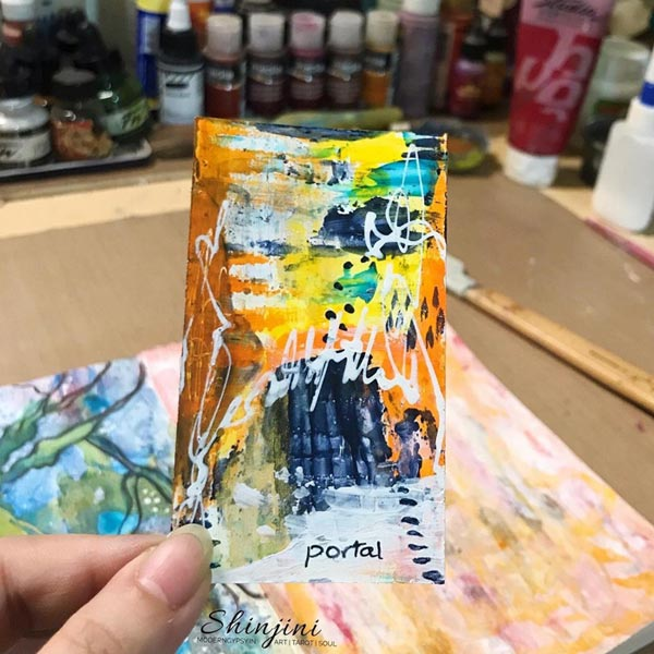 Small abstract painting - portal