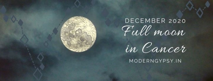 Tarot spread for the December 2020 full moon in Cancer