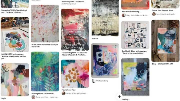 How to teach yourself art - gather inspiration - pinterest screen shot