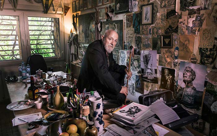 Markus Lupertz's studio and the link between mess and creativity