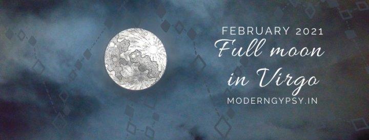 Tarot spread for the February 2021 full moon in Virgo