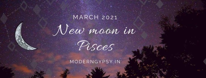 Tarot spread for the March 2021 new moon in Pisces