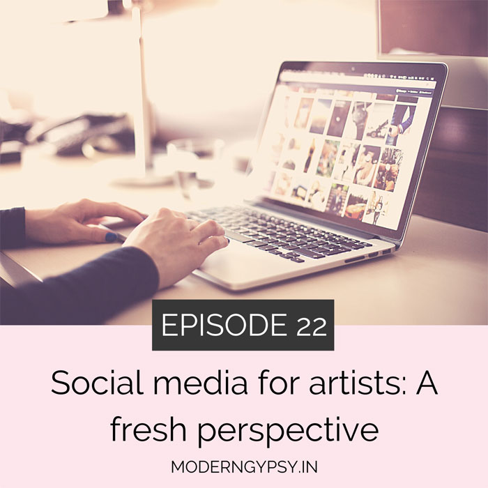 social media for artists - a different perspective