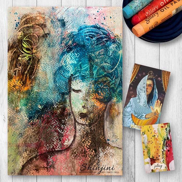 Abstract portrait origin stories