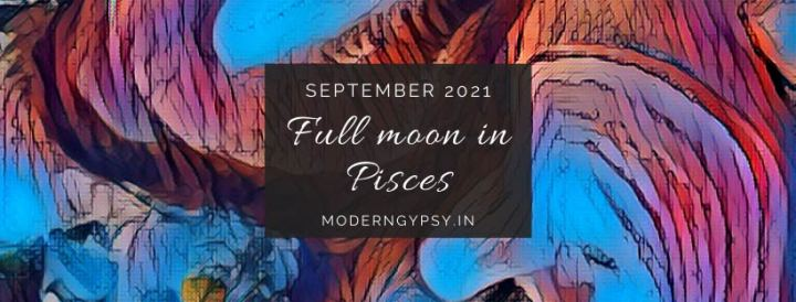Tarot spread for the September 2021 full moon in Pisces