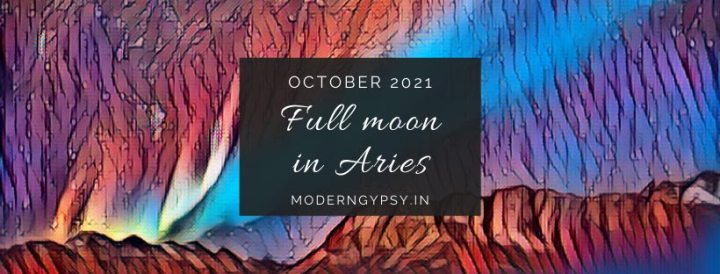 Tarot spread for the October 2021 full moon in Aries