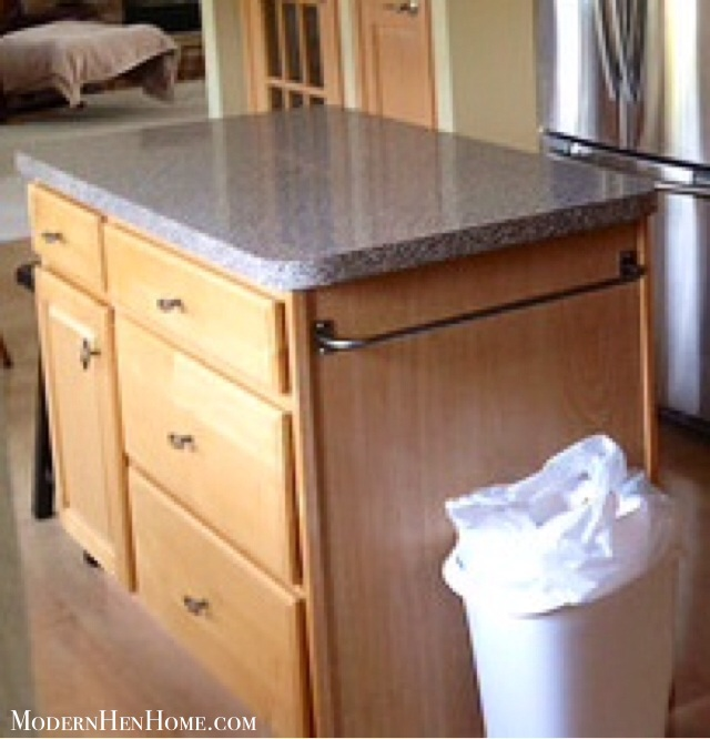 Before & After: Painting A Kitchen Island On A Budget
