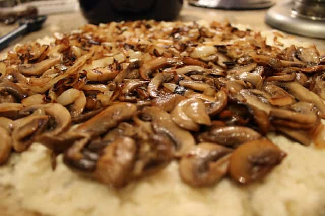 Mushroom and Onion Pizza