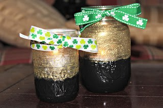 Do It Yourself: St. Patrick's Day Mason Jar ' Pot of Gold' Candle Votives