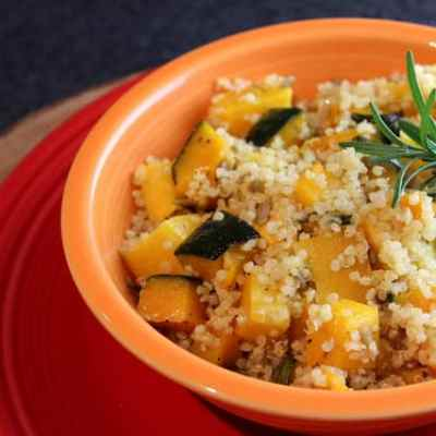 Meatless Monday: Roasted Squash and Quinoa Salad with Rosemary-Lemon Vinaigrette