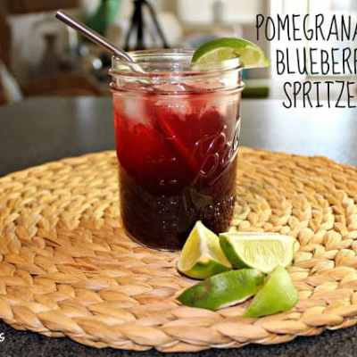 Summer Cocktail Series: Pomegranate-Blueberry Spritzer