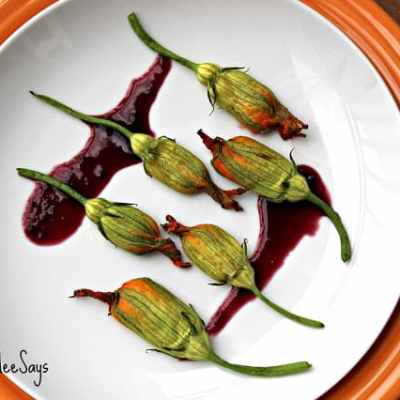 Meatless Monday: Squash Blossoms Stuffed with Honey-Cashew Goat Cheese