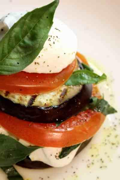 Grilled Eggplant Caprese