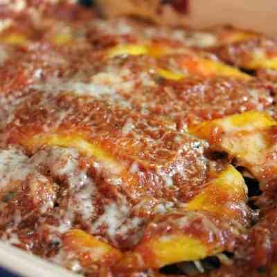Mushroom-Spinach Lasagna with Squash Noodles