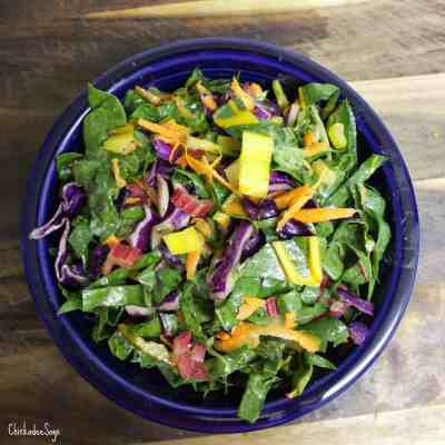 Meatless Monday: Rainbow Chard Slaw
