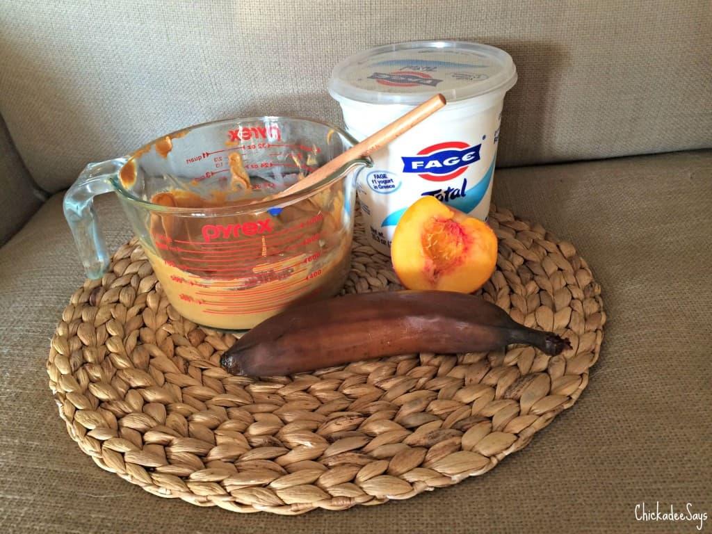 Peanut Butter Peach Frozen Dog Treats