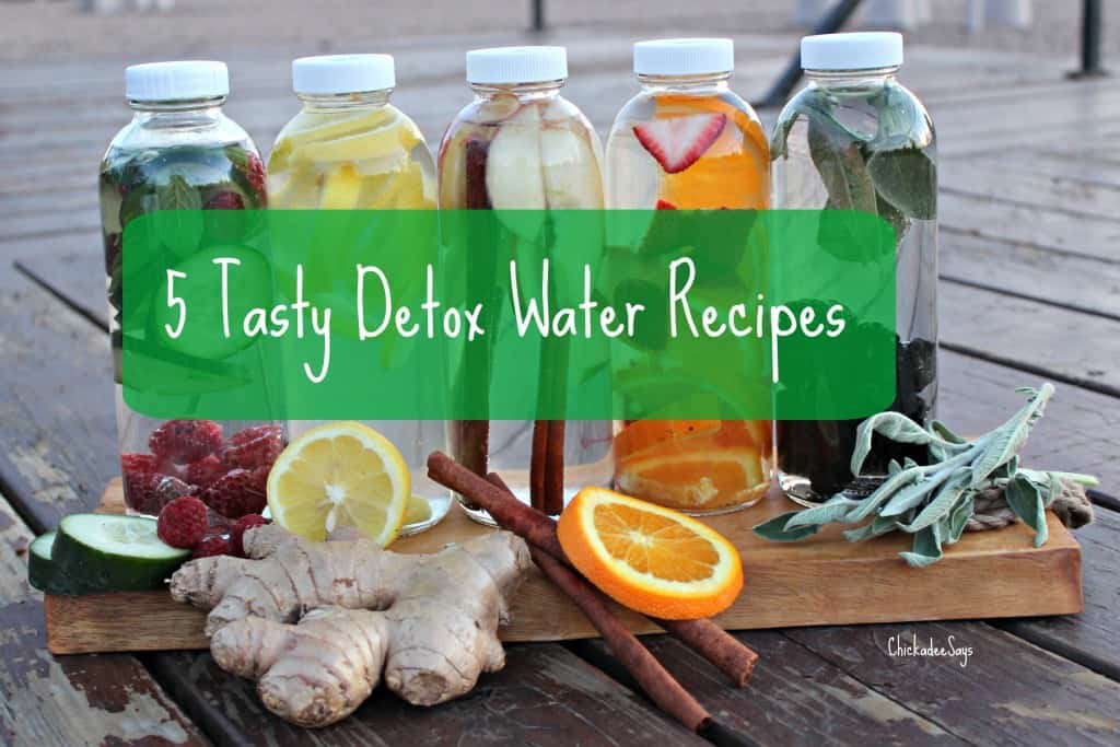 5 Tasty Detox Water Recipes Text