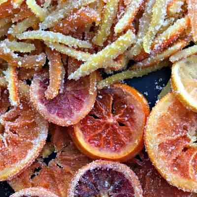 Candied Citrus Two Ways: Slices and Peels
