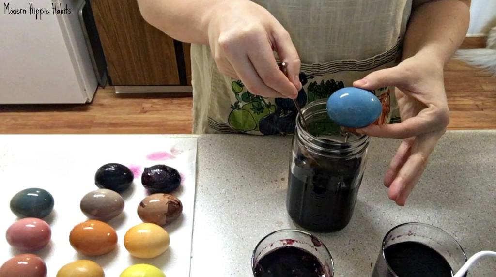 DIY All Natural Easter Egg Dyes Finished Colors