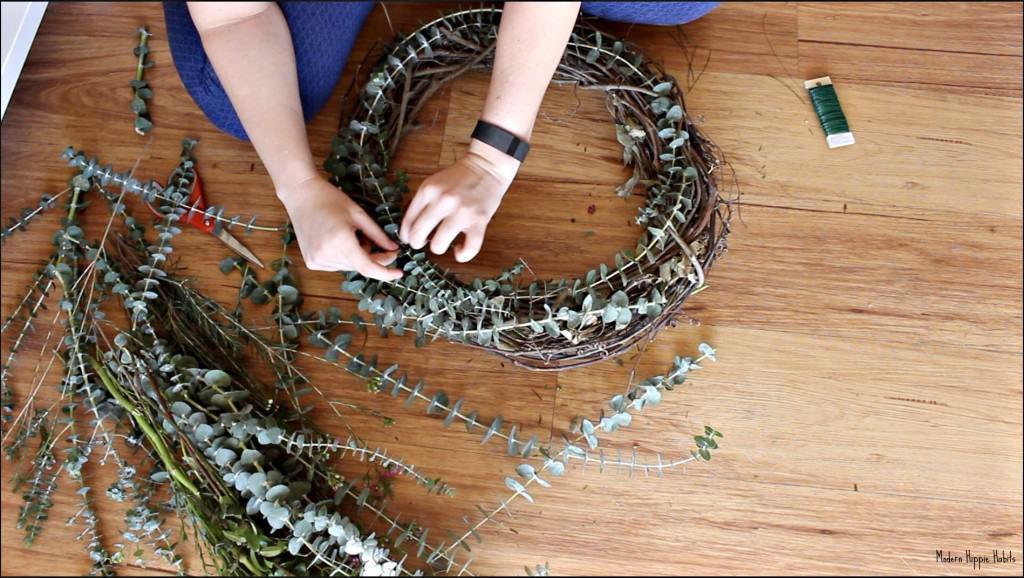 DIY Fresh Spring Wreath Base