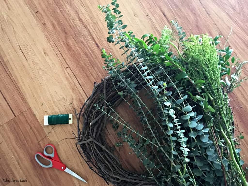 DIY Fresh Spring Wreath Supplies