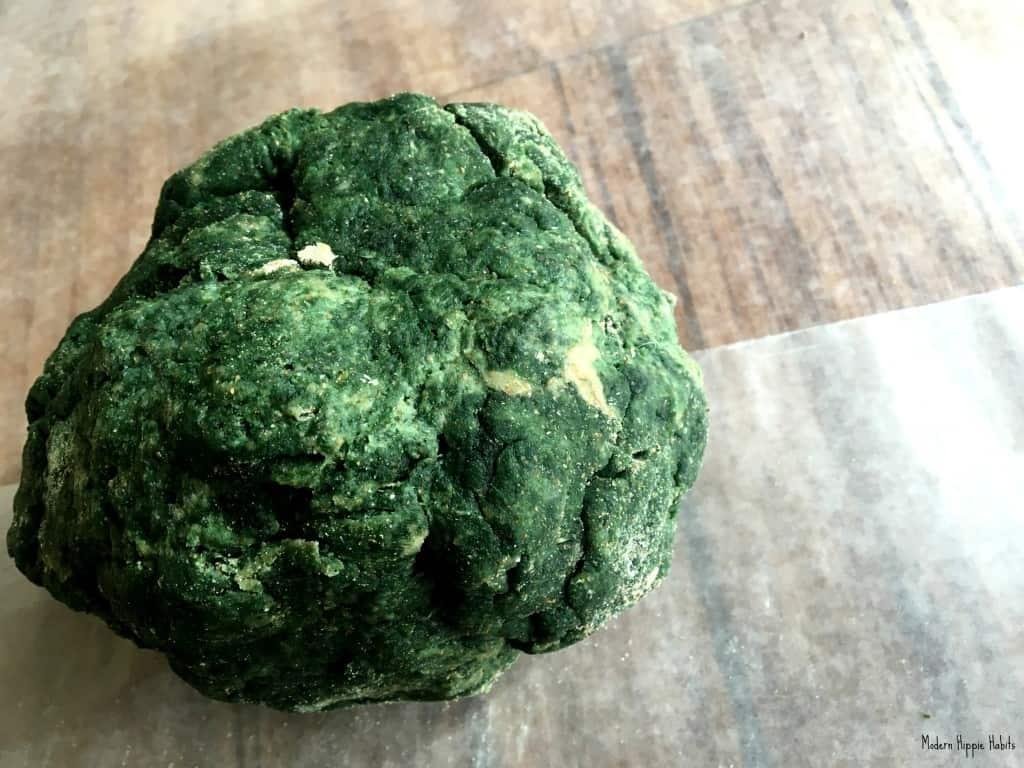 St Patrick's Day Dog Treat Recipe Dough Ball