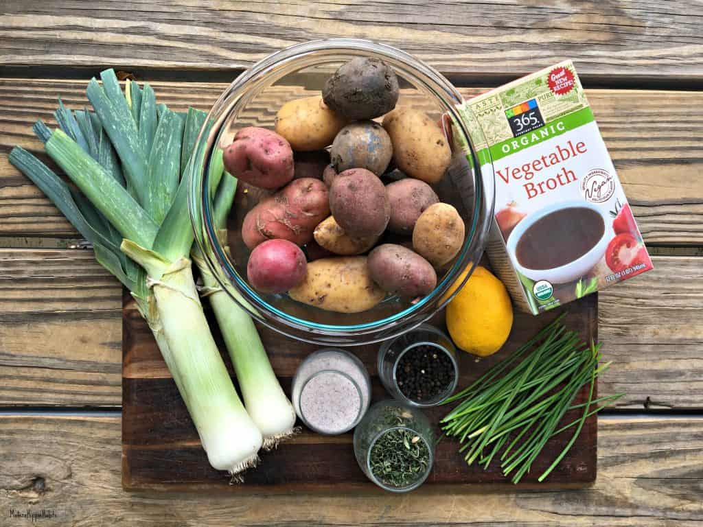 Vegan Potato Leek Soup Ingredients