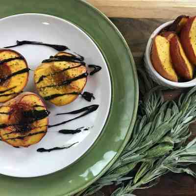 Simple Sage-Glazed Roasted Peaches