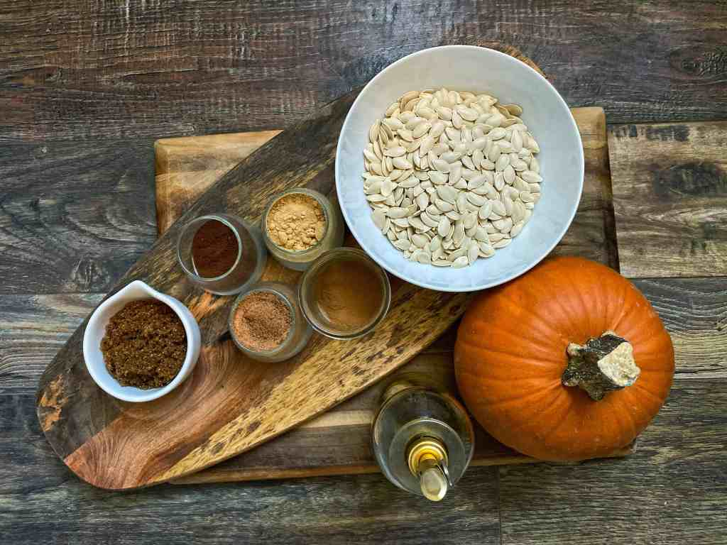 pumpkin spiced roasted pumpkin seeds ingredients