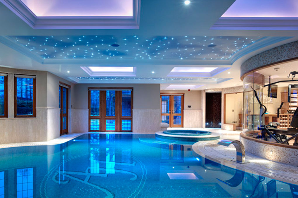 Indoor Swimming Pool As Luxury Symbol Of Healthy Life