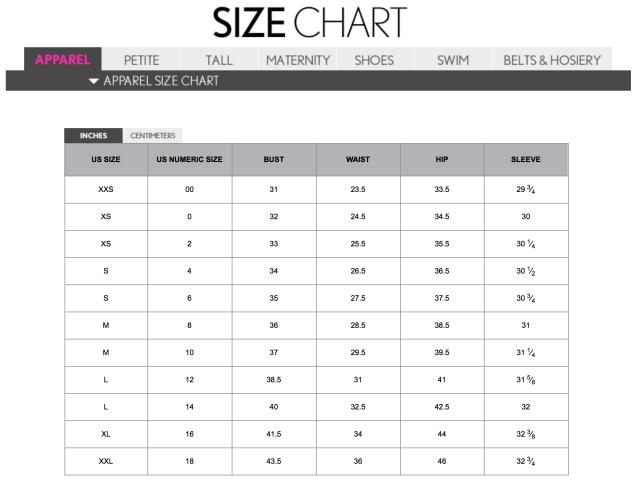 Loft Size Chart