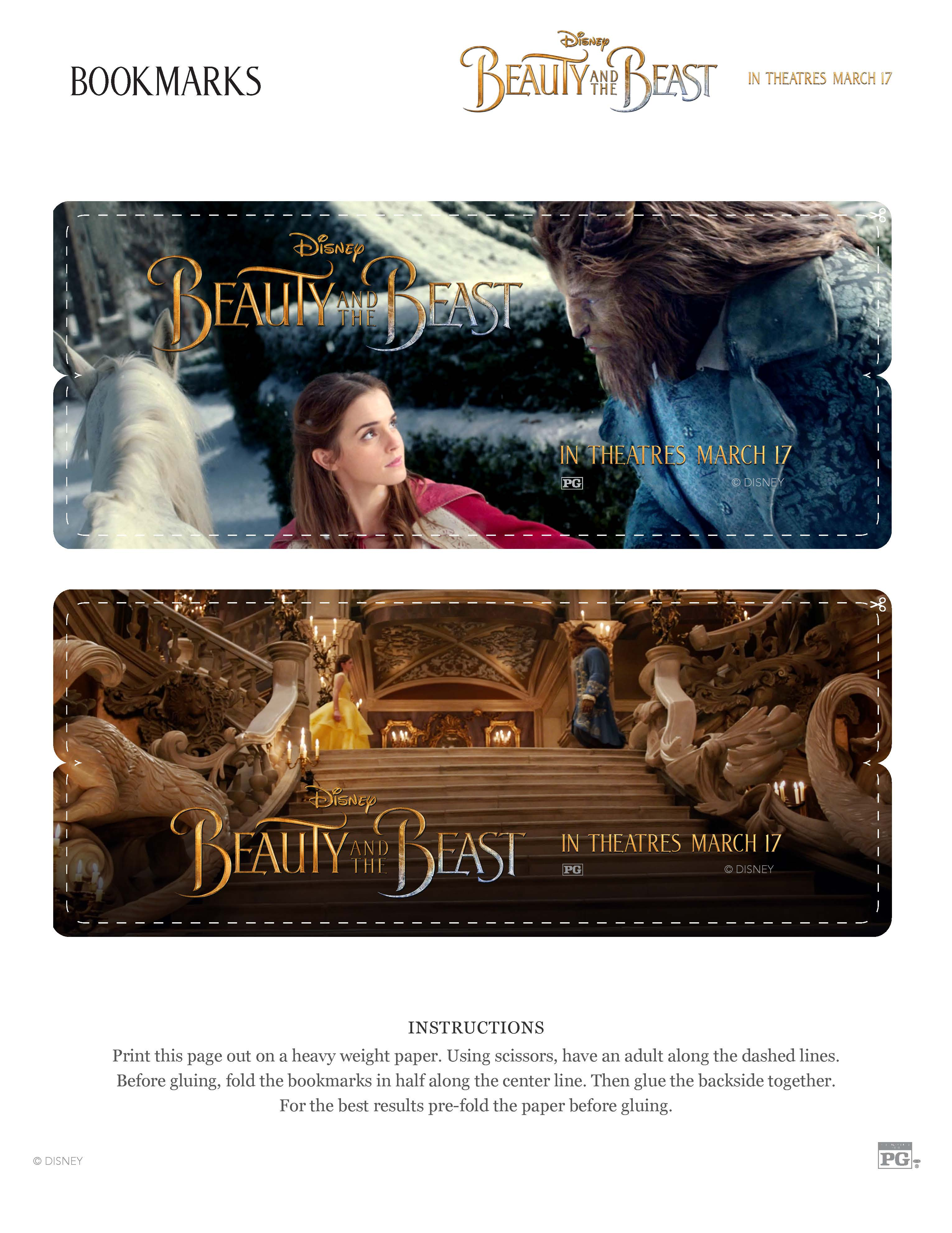 Free Beauty And The Beast Activity Sheets