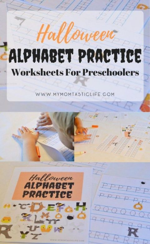 Halloween Alphabet Practice Worksheets For Preschoolers