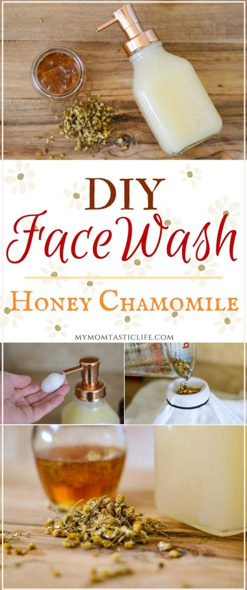 DIY Face Wash - Honey Chamomile Foaming Facewash