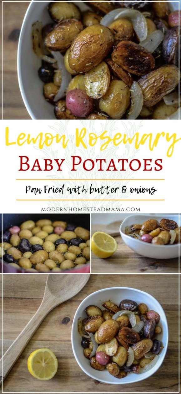 Lemon Rosemary Baby Potatoes Recipe