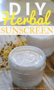 DIY Herbal Sunscreen
