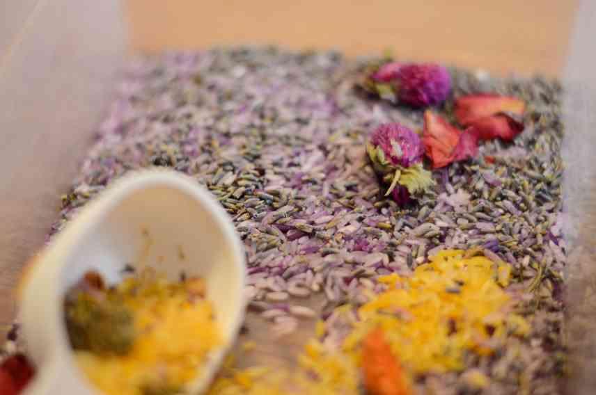 Lavender Sensory Bin