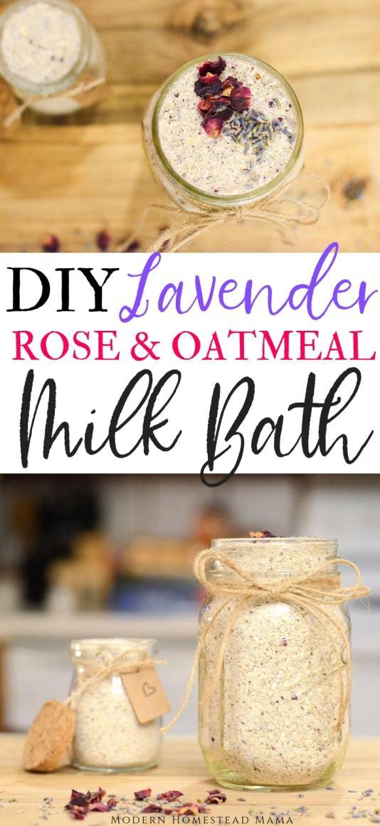 DIY Milk Bath (Lavender Rose & Oatmeal) | Modern Homestead Mama
