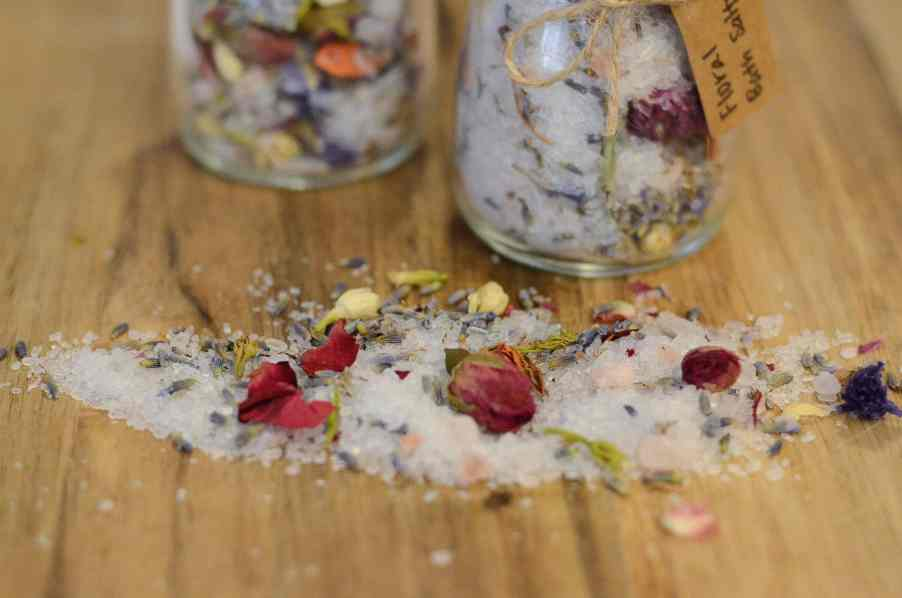 DIY Floral Bath Salts