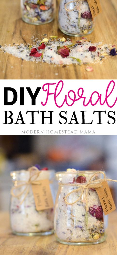 DIY Floral Bath Salts | Modern Homestead Mama