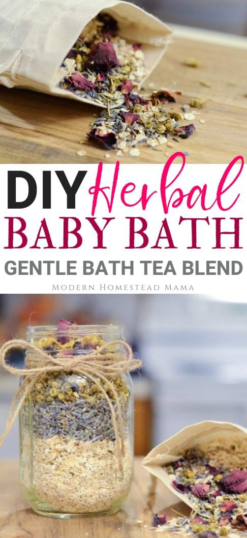 DIY Herbal Baby Bath | Modern Homestead Mama