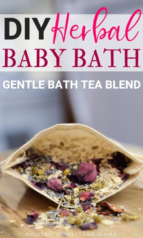 DIY Herbal Baby Bath (Gentle Bath Tea Blend For Babies)