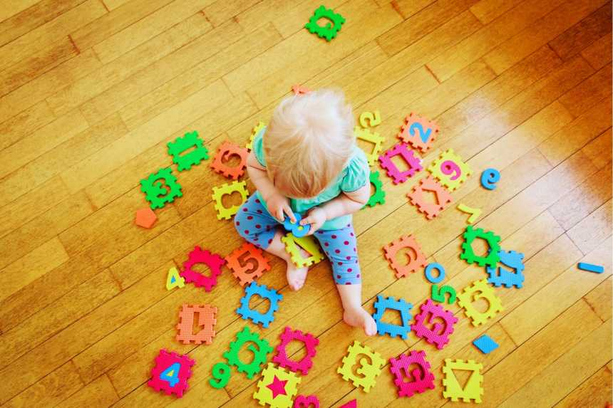 Toddler Learning The Alphabet