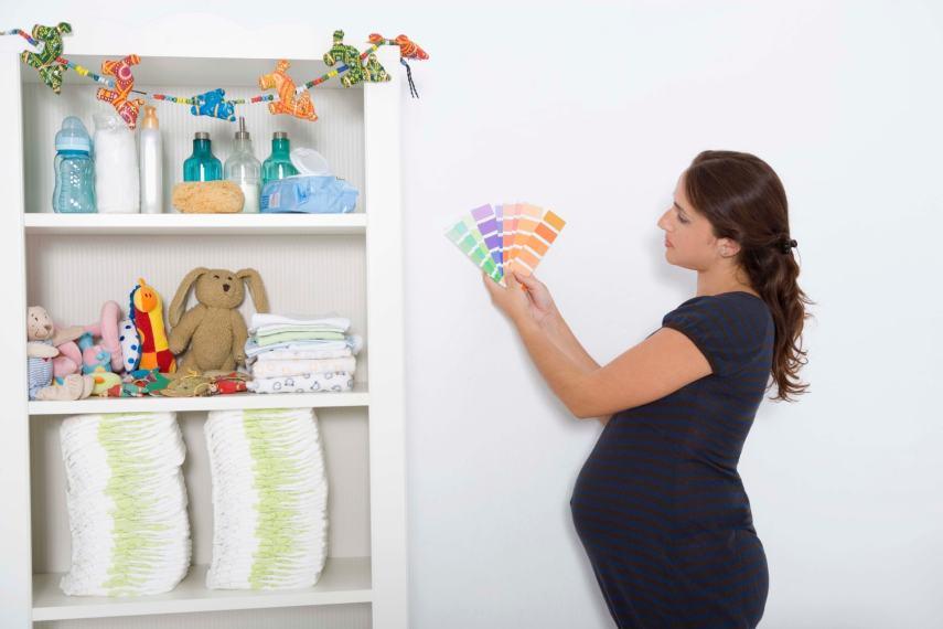Nesting Pregnancy Mom In Nursery